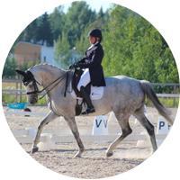 hevonen, ympyrä, Daisy, kouluratsastus